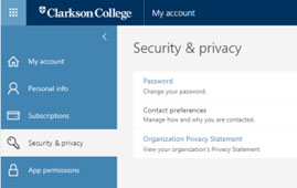 How to access the password from my account